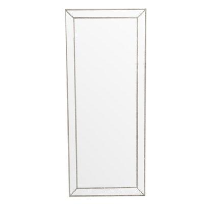 """Bevel Framed Full Length """"Leaner"""" Floor Mirror"""