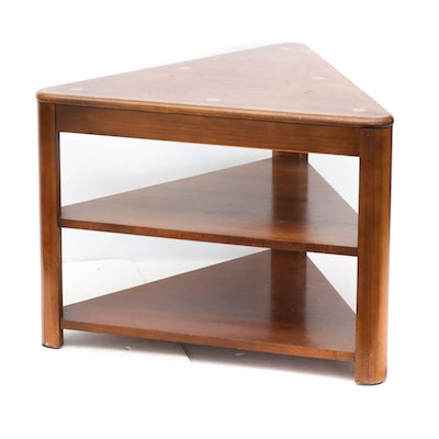 Lane Tiered Triangle Side Table, Mid-Century