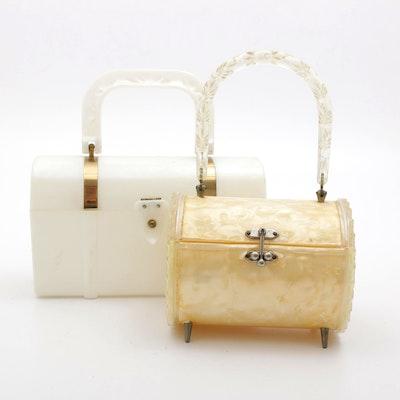 Lucite Box Purse Handbags, 1950s Vintage