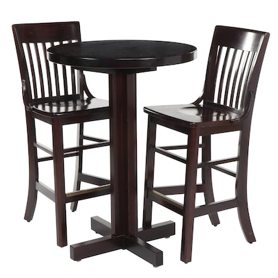 Contemporary Brunswick High-Top Table with Barstools