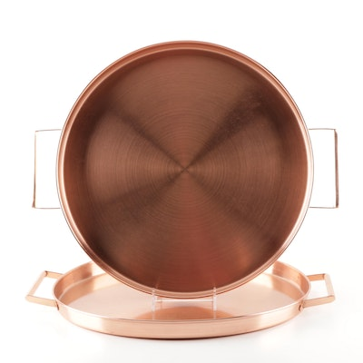 Indian Copper Serving Trays