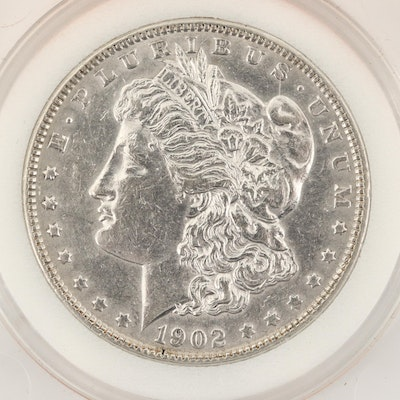 Encapsulated 1902 Morgan Silver Dollar