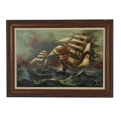 Hermann Maritime Oil Painting