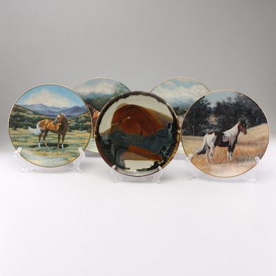 "W.S. George ""The Majestic Horse"" Porcelain Collector Plates"