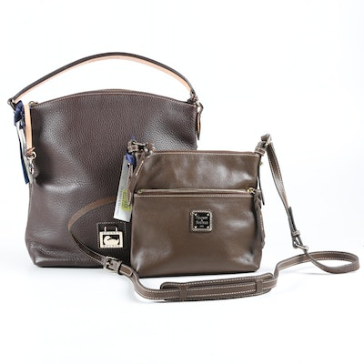 Dooney & Bourke North South Sac and Letter Carrier in T' Moro and Brown Leather