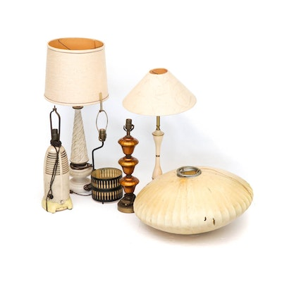 Table Lamps Including George Nelson, Lumitone Radio Lamp, Mid-Century