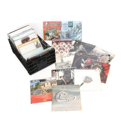 Vintage Records by Kiss, John Lennon, Mick Jagger, Eric Clapton, Ray Charles
