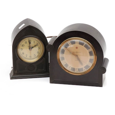 Plastic Cased General Electric and Telechron Clocks