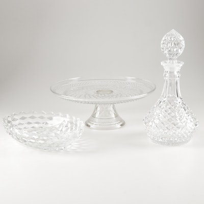 """Pressed Glass Serveware and Decanter Featuring Fostoria """"American Clear"""""""