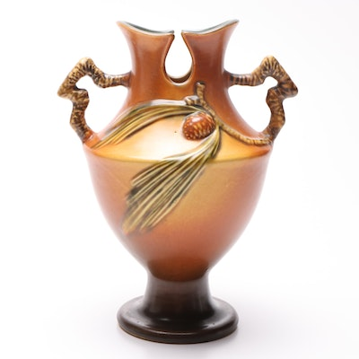 "Roseville Pottery ""Pine Cone"" Trophy Vase, Circa 1931"