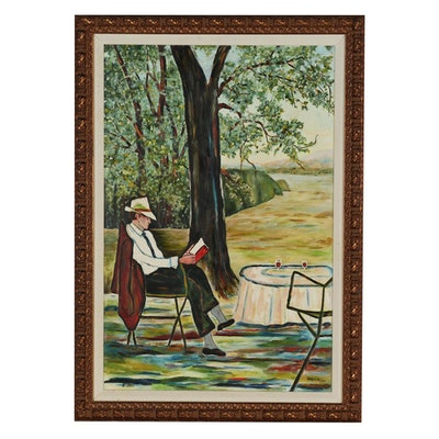 Judson Wilson Figural Oil Painting