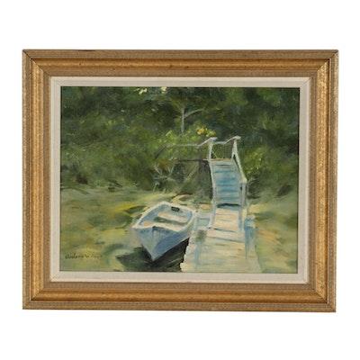 Judson Wilson Oil Painting of Harbor Scene
