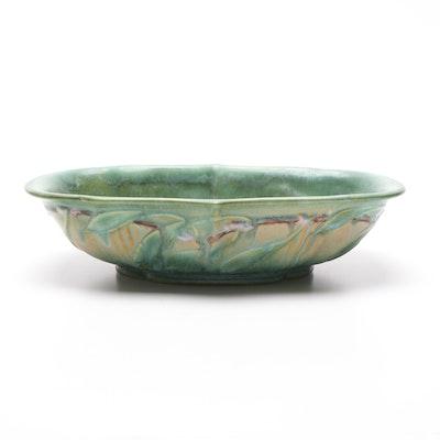 """Roseville Pottery """"Laurel"""" Art Deco Centerpiece Bowl, Circa 1934"""