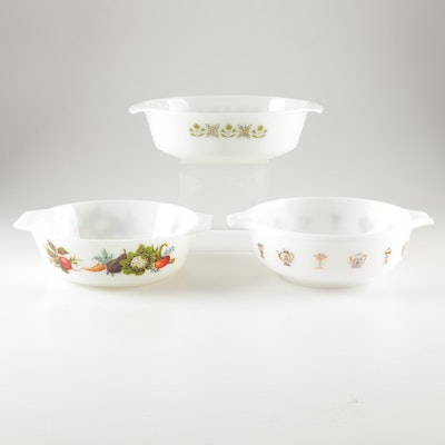 """Glass Bakeware Featuring Anchor Hocking Fire King """"Green Meadow"""""""