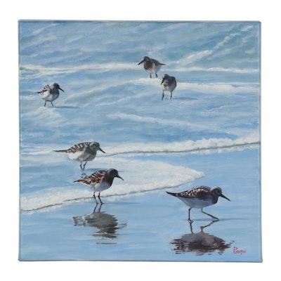 "Peter Lentini Oil Painting ""Fresca"""