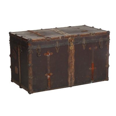 """Early 20th Century Morton """"Special Delivery"""" Trunk"""