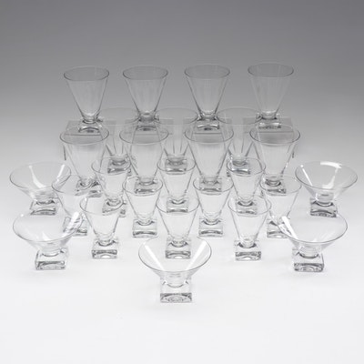 Crystal Square-Footed Dessert Glasses