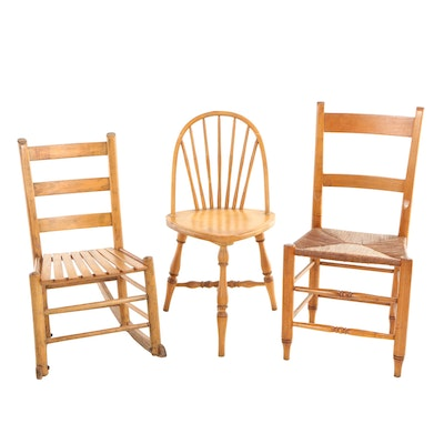 Matched Set of Three Chairs, 19th/20th Century