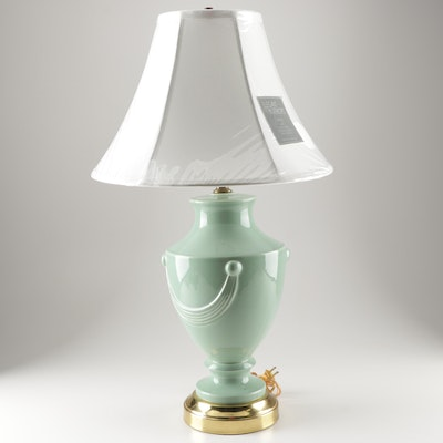 Royal Haeger Ceramic Table Lamp with Elegant Interiors Shade