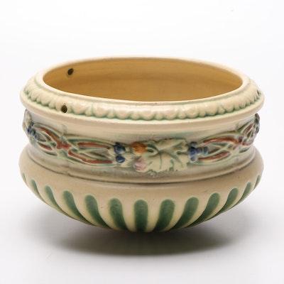 "Roseville Pottery ""Corinthian"" Hanging Jardiniere, Circa 1923"