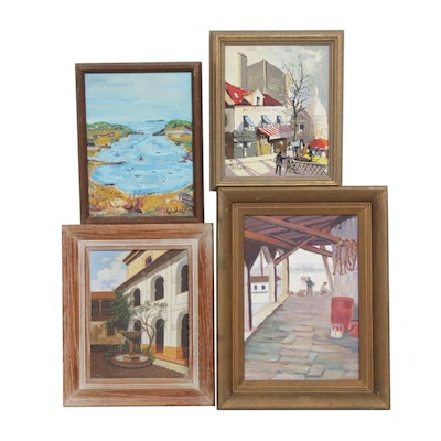 20th Century Landscape and City Scene Oil Paintings