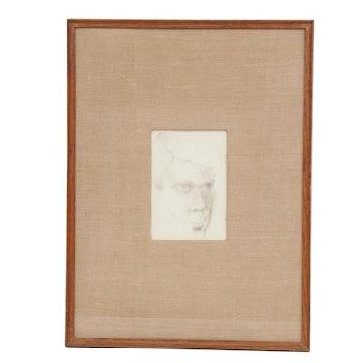 "James Rayen Graphite Drawing ""Self Portrait"""