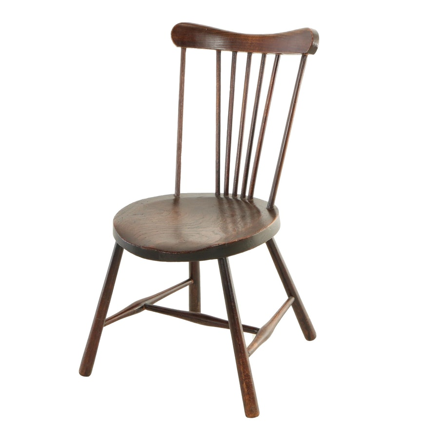 Child's Rod-Back Windsor Side Chair, 19th Century