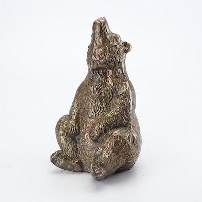 Bronze Bear Figurine