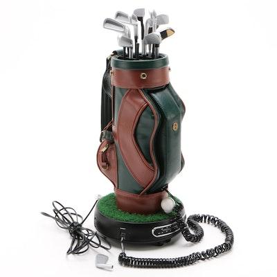 Polyconcept Inc. Golf Bag AM/FM Radio Phone, Late 20th Century