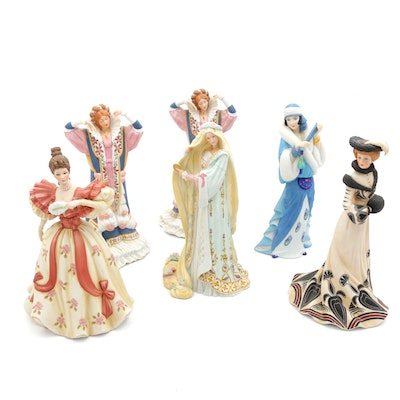 """Lenox Porcelain Figurines Including """"Sleeping Beauty"""" and """"Tea at the Ritz"""""""