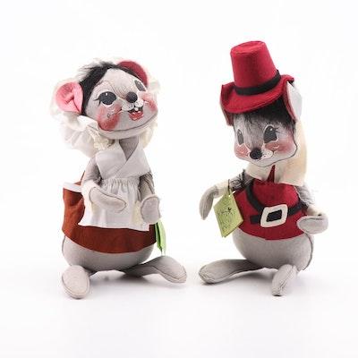 Annalee Dolls Thanksgiving Pilgrim Mice Dolls