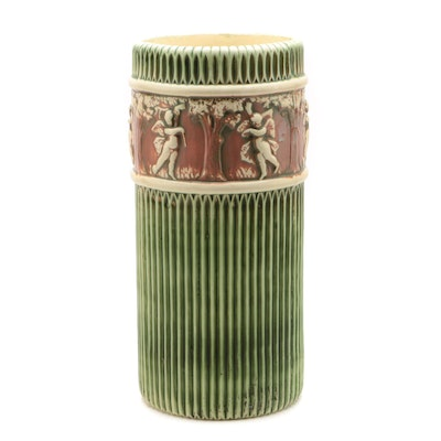 "Roseville Pottery ""Donatello"" Umbrella Stand, Early 20th Century"