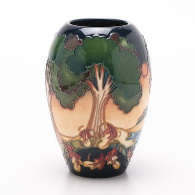 Moorcroft Pottery Earthenware Vase Attributed to Emma Bossons, 2003
