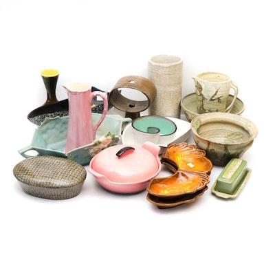 Mid Century Modern Art Pottery Including Roseville