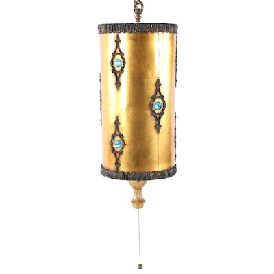 Bejeweled Swagged Pendant Light, Circa 1960s