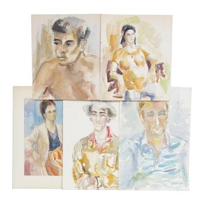 Yolanda Fusco Impressionist Style Portrait Watercolor Paintings