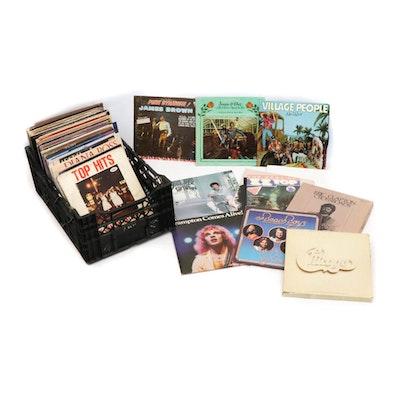 Vintage Records by James Brown, Miles Davis, ZZ Top, Cat Stevens, Eric Clapton