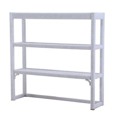 White Wicker Bookcase