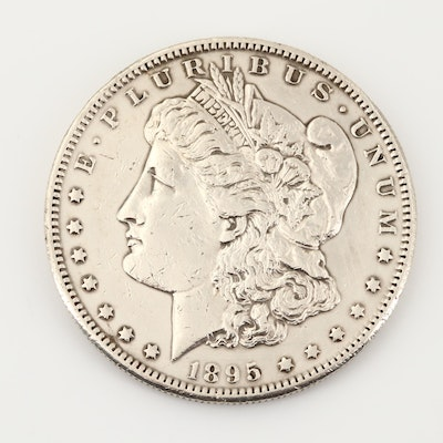 Key Date Low Mintage 1895-S Morgan Silver Dollar