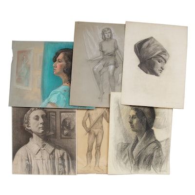 Mid Century Figure and Portrait Drawings