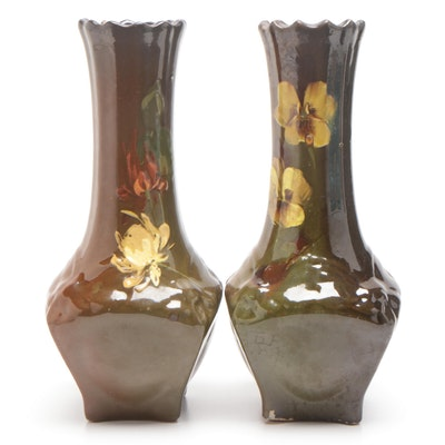 McCoy Loy-Nel-Art Floral Vases, Early 20th Century (Attributed)