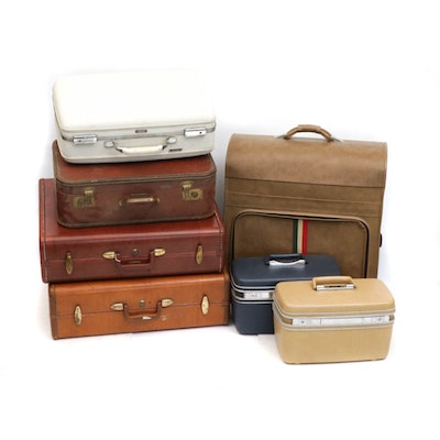 Suitcases and Luggage, 1960s-70s Vintage