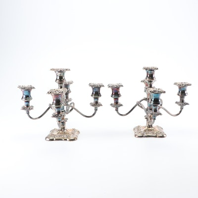 International Silver Co. Silver Plated Candelabras