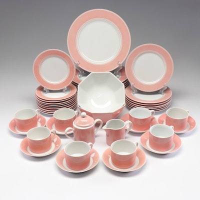 "Fitz and Floyd ""Rondelet Peach"" Dinnerware,1975"