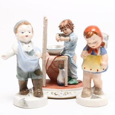 Capodimonte La Medea by Rori and Royal Dux Bohemia Porcelain Figurines