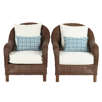 Vinyl Wicker Patio Lounge Chairs