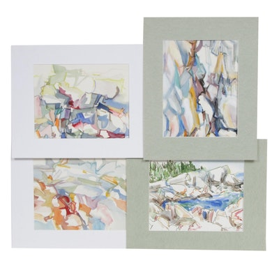 Yolanda Fusco Abstract Landscape Watercolor Paintings