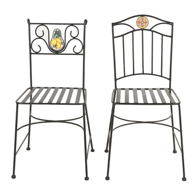 Wrought Iron Patio Side Chairs