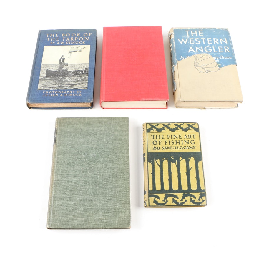 """First Edition """"The Book of the Tarpon"""" with Other Fishing Books"""