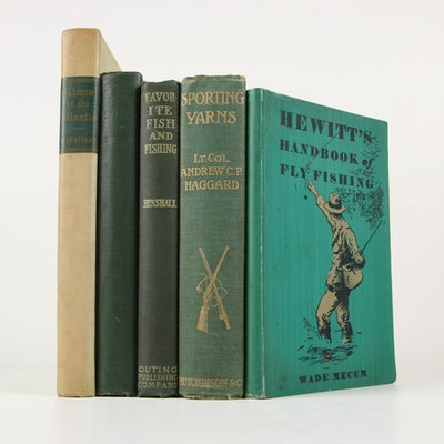 "1903 ""Sporting Yarns"" with More Fishing Books"